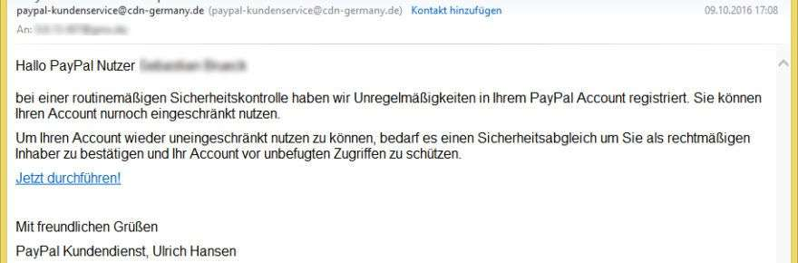 PayPal Sicherhe...