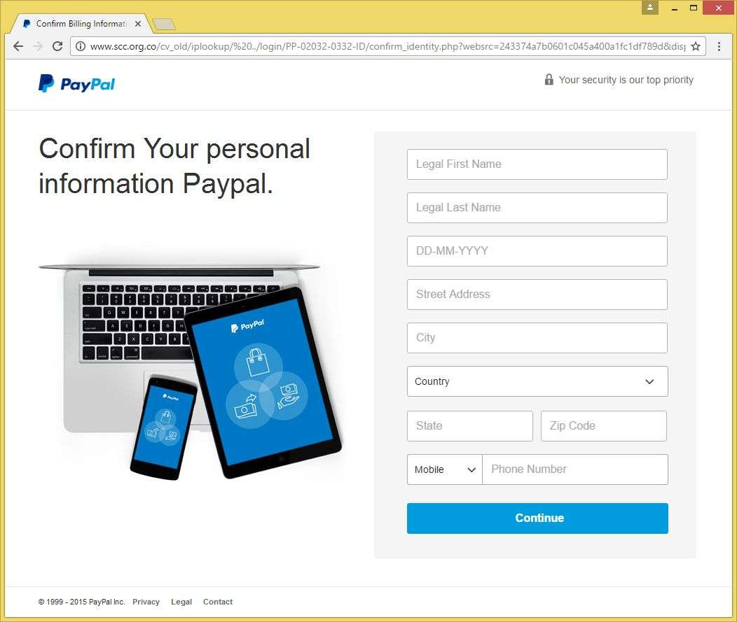Importantly We Have Ascertained Unusual Activities In Your PayPal
