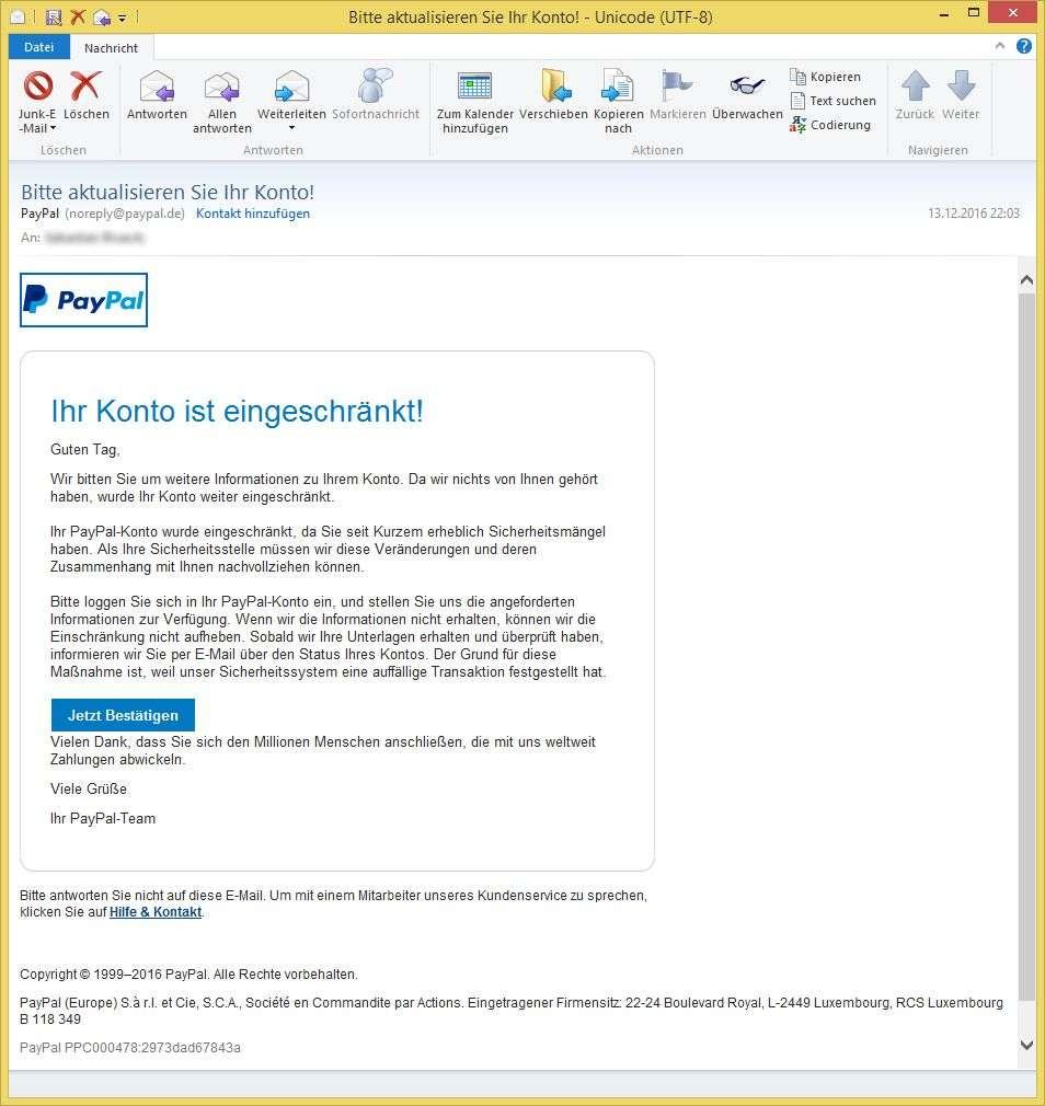E Mail AdreГџe Von Paypal