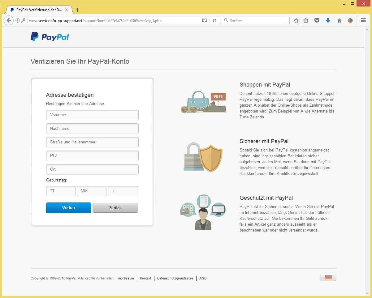 pay pal.de einloggen
