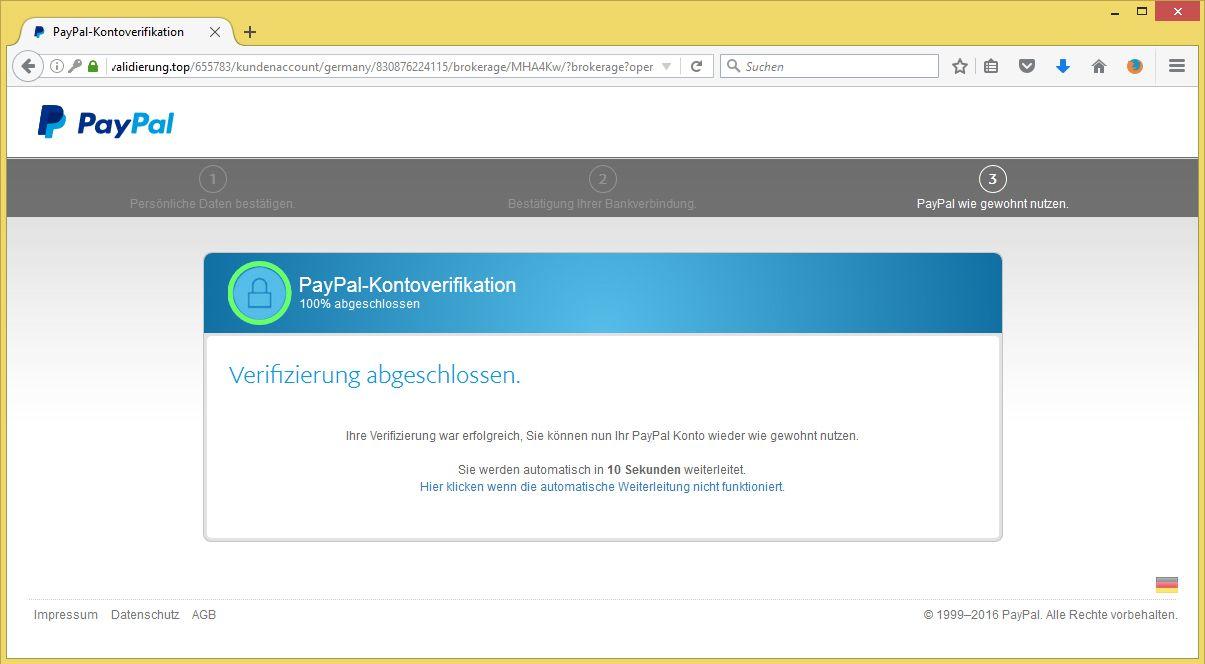 Paypal Verifizierung Kundenkonto