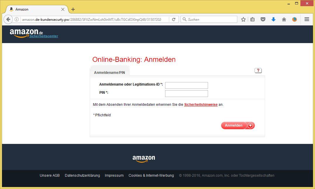 überprüfung Ihrer Identität Amazon