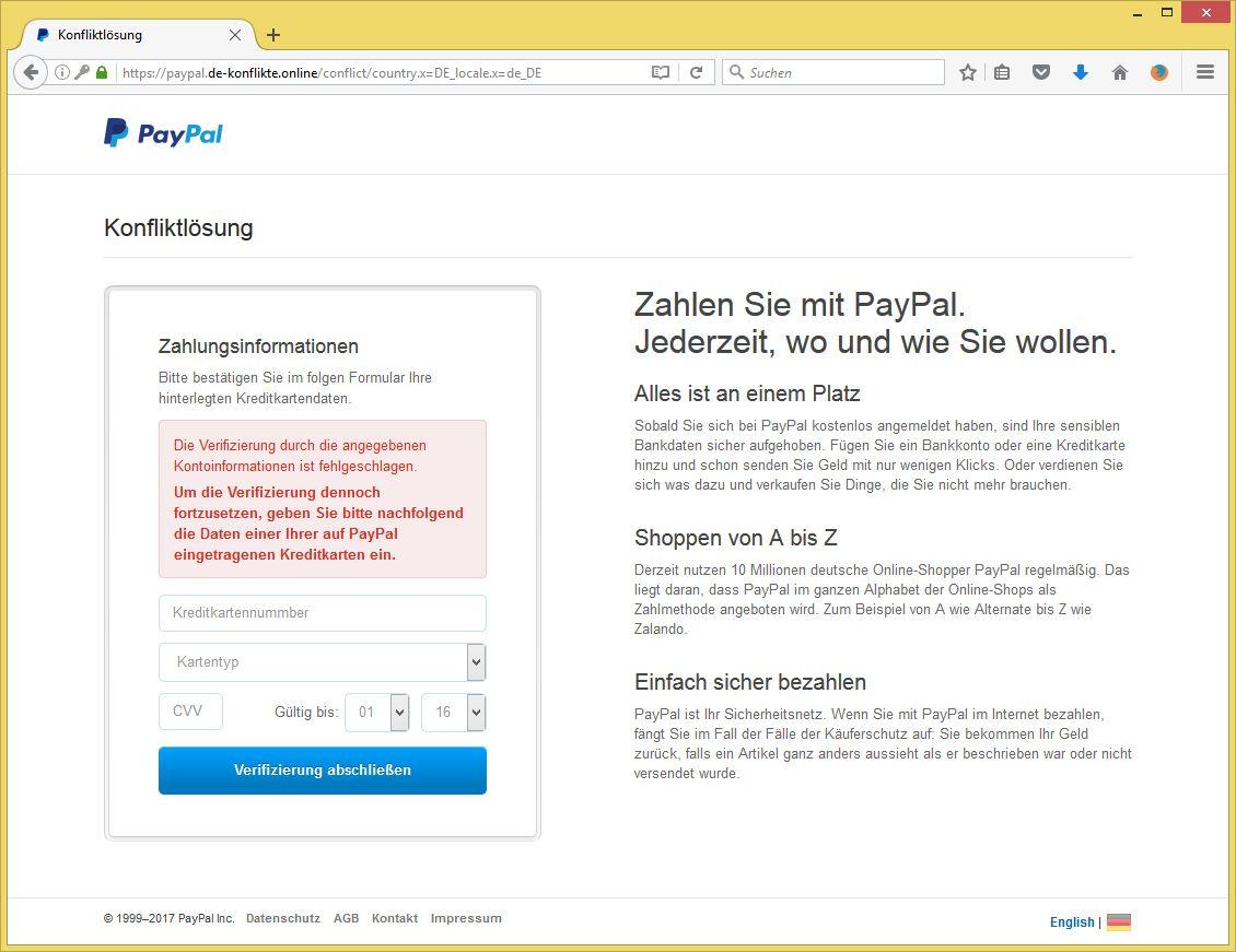 Paypal Missbrauch