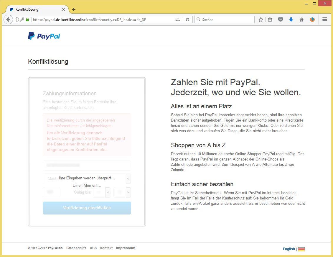 paypal bitte bestätigen sie ihre kontoinformationen