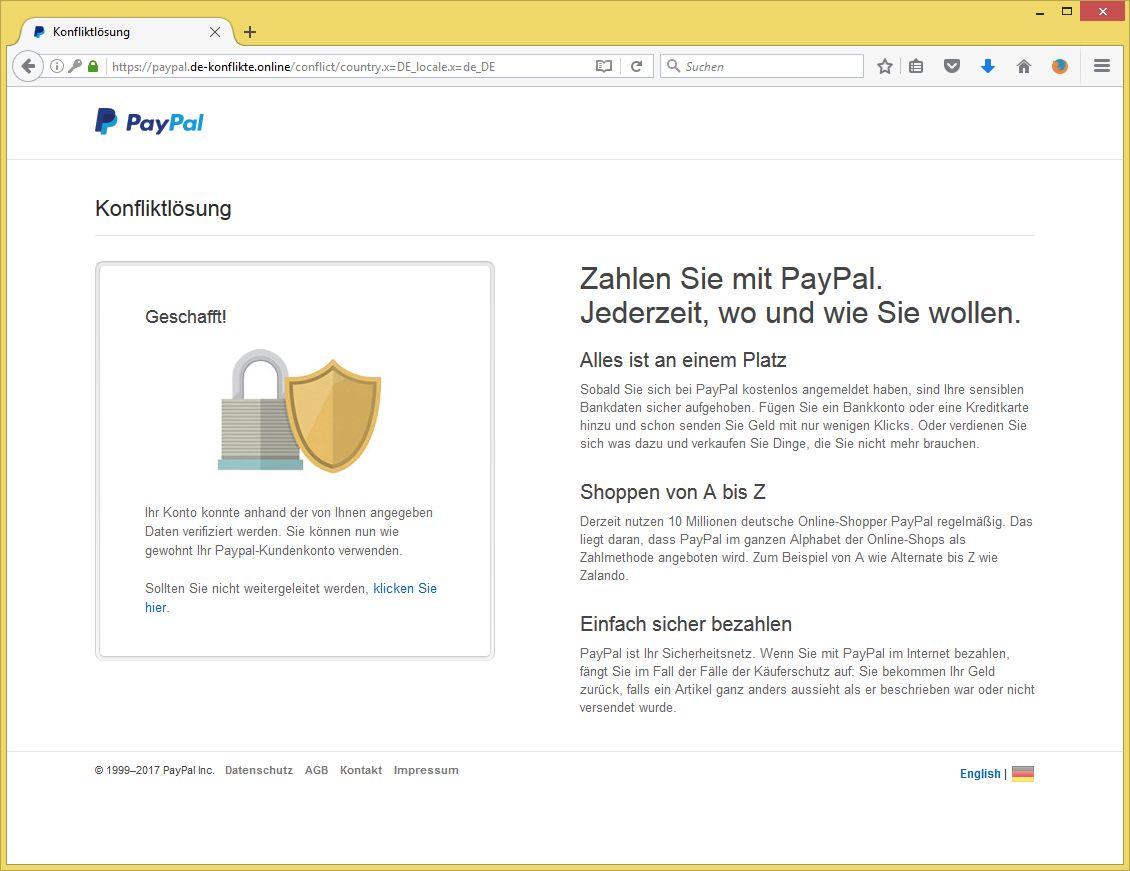 paypal konfliktlösung