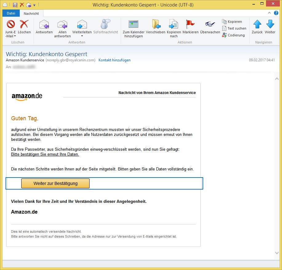 amazon kundenservice email