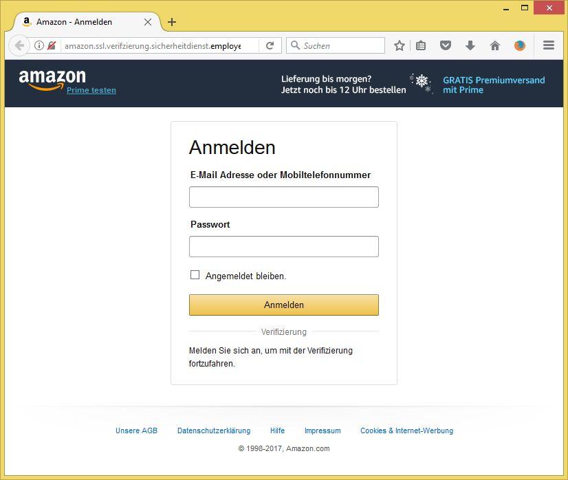 Amazon Kundenkonto Gesperrt Mail