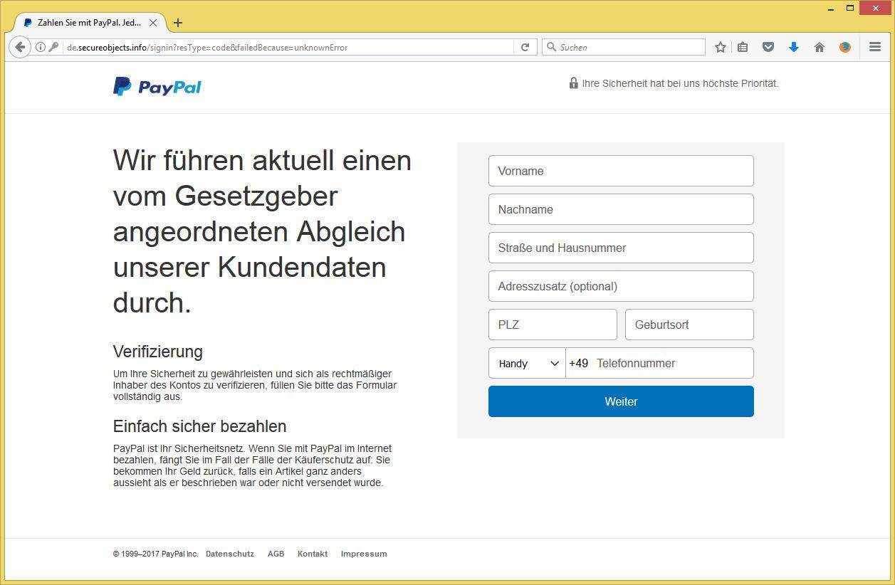 Paypal Verifizieren Email