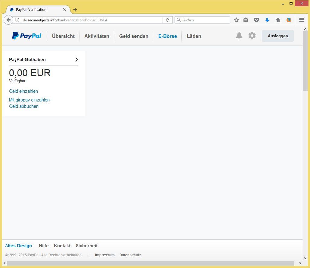 Paypal Erneute Verifizierung