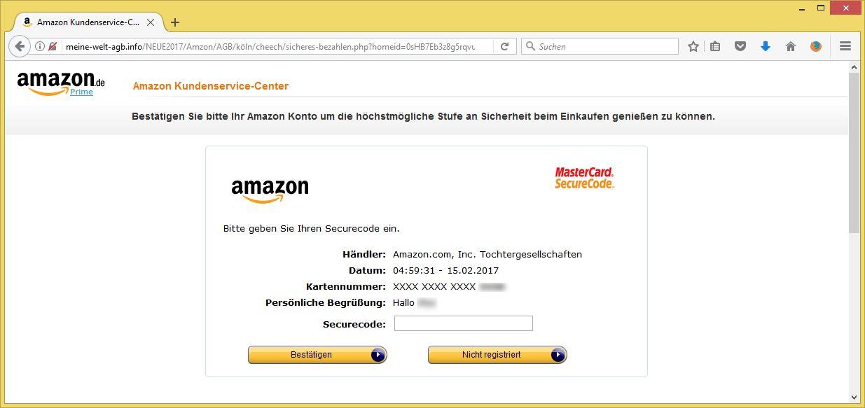 Amazon Konto Bestätigen