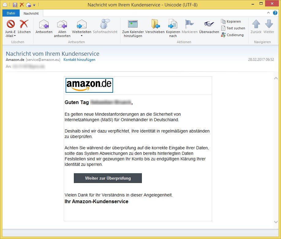 Amazon Kunden Service