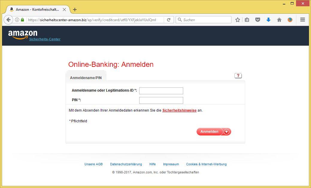Amazon Email Unbefugter Zugriff