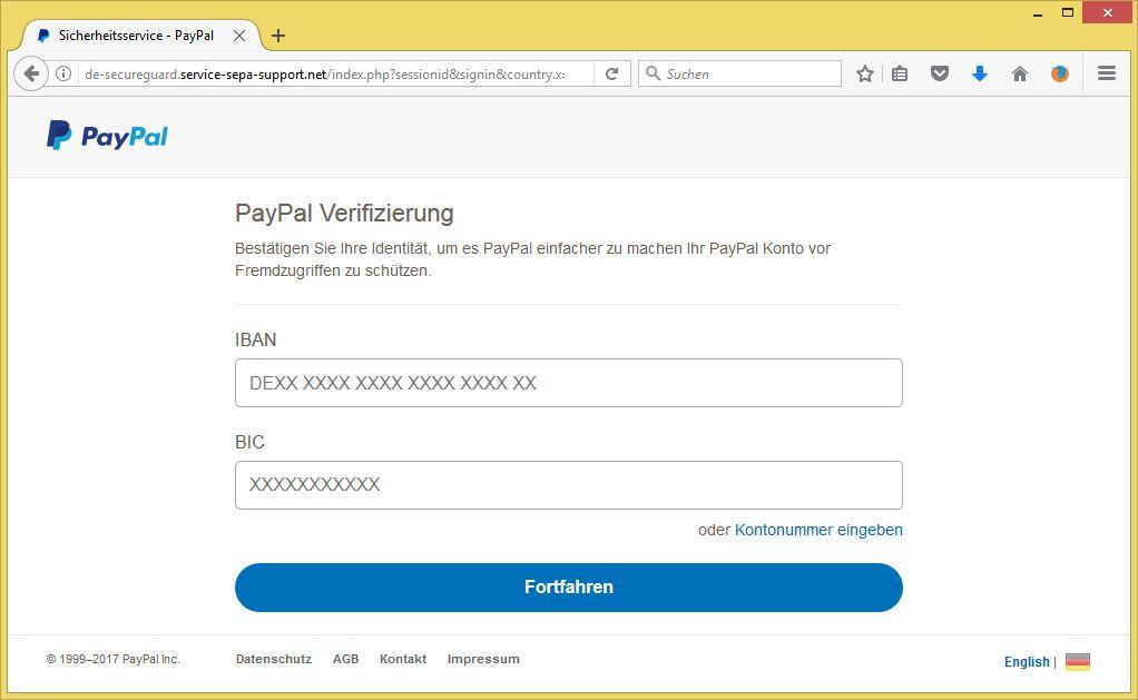 Paypal Verifizierungscode Eingeben