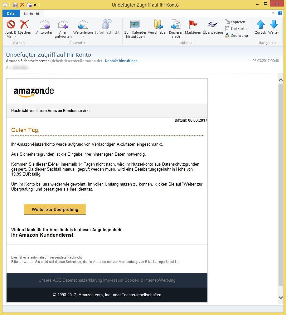 Amazon.De Sicherheitscenter