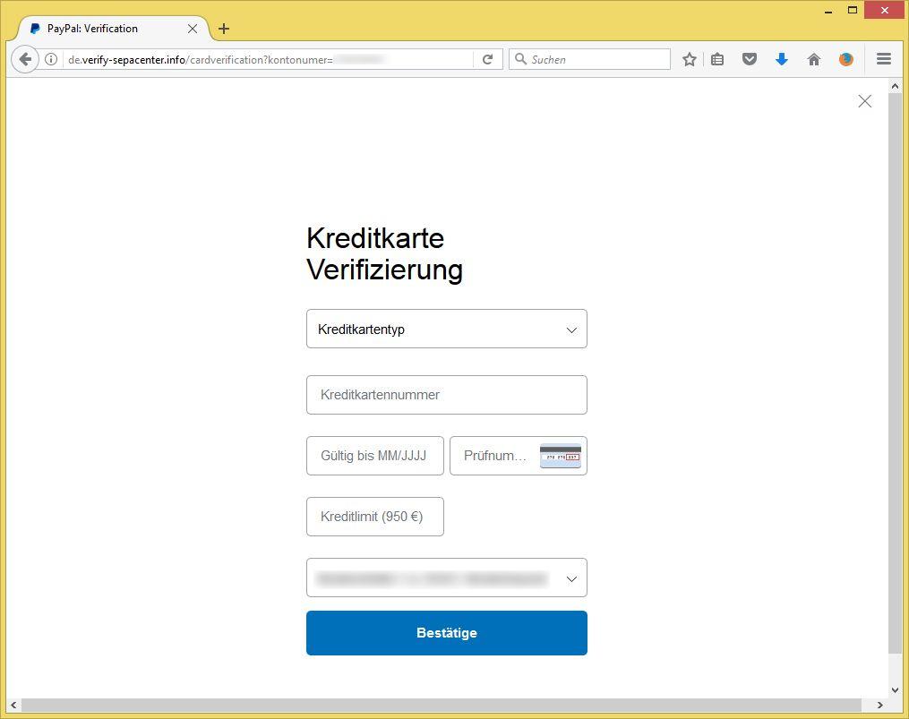 Paypal Identitätsprüfung Mail