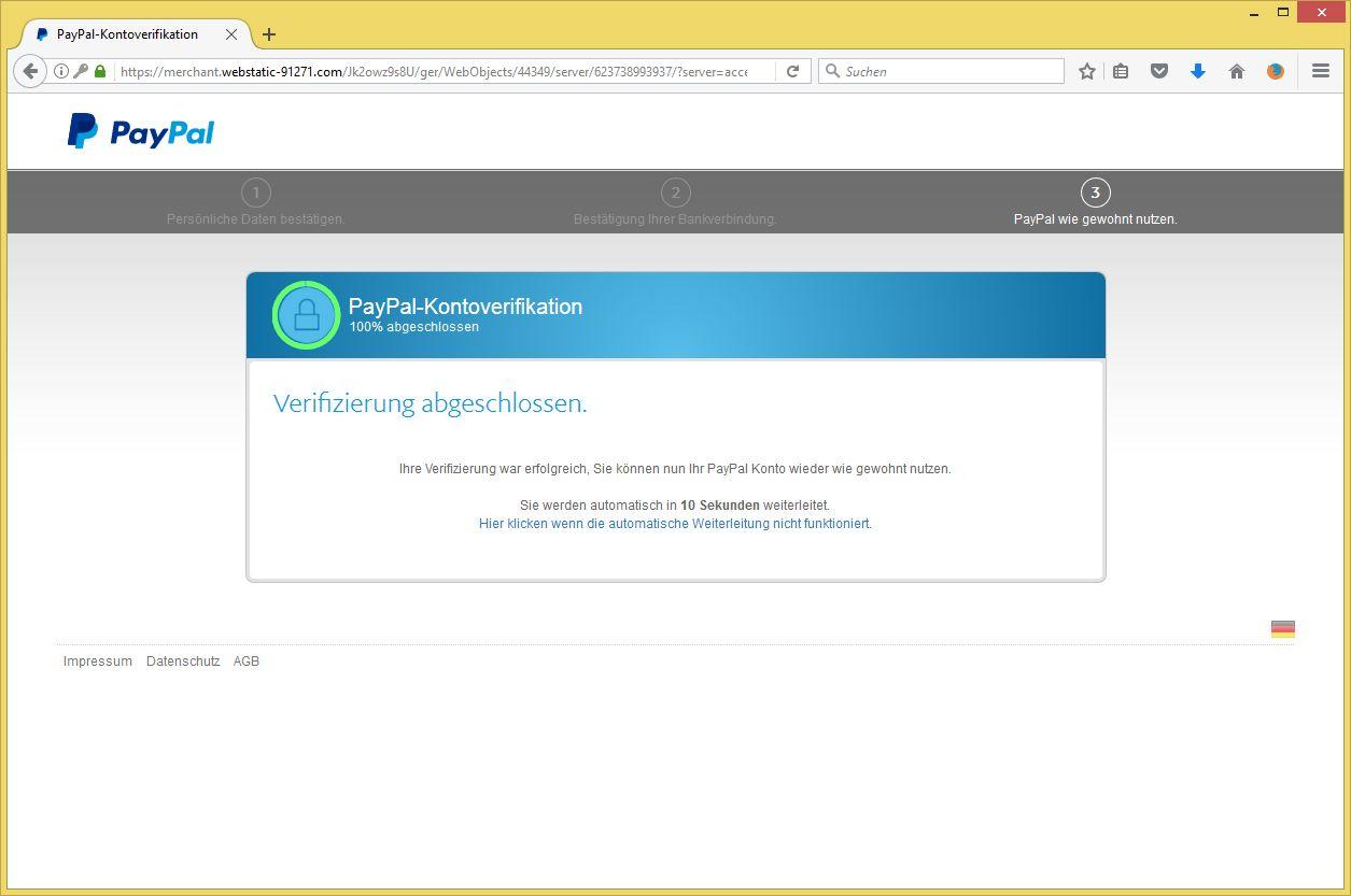 paypal informiert ihr konto wurde vorübergehend eingeschränkt