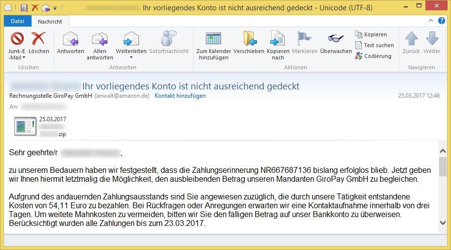 Rechtsanwalt Giropay Email