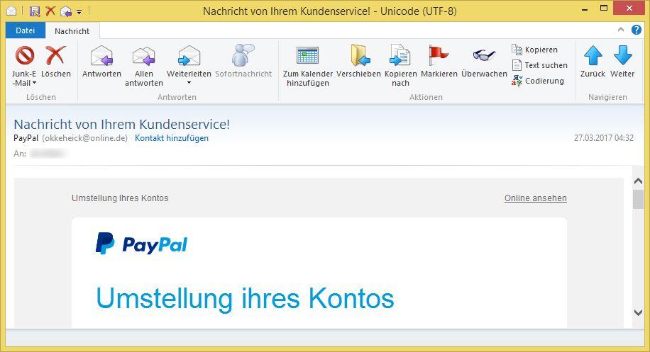 Mail Von Paypal.De