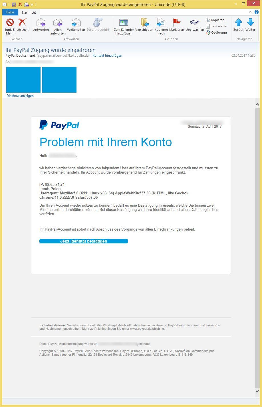 Adresse Paypal Deutschland