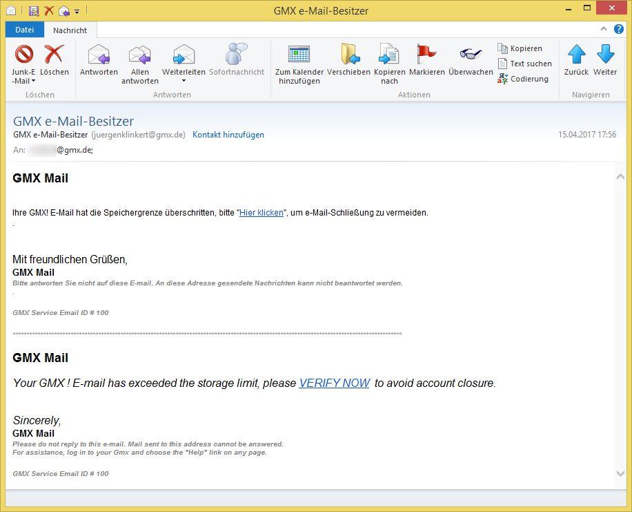 Gmx mail login passwort vergessen
