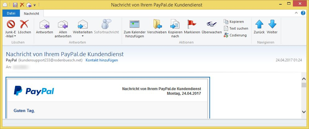 paypal kundendienst e mail