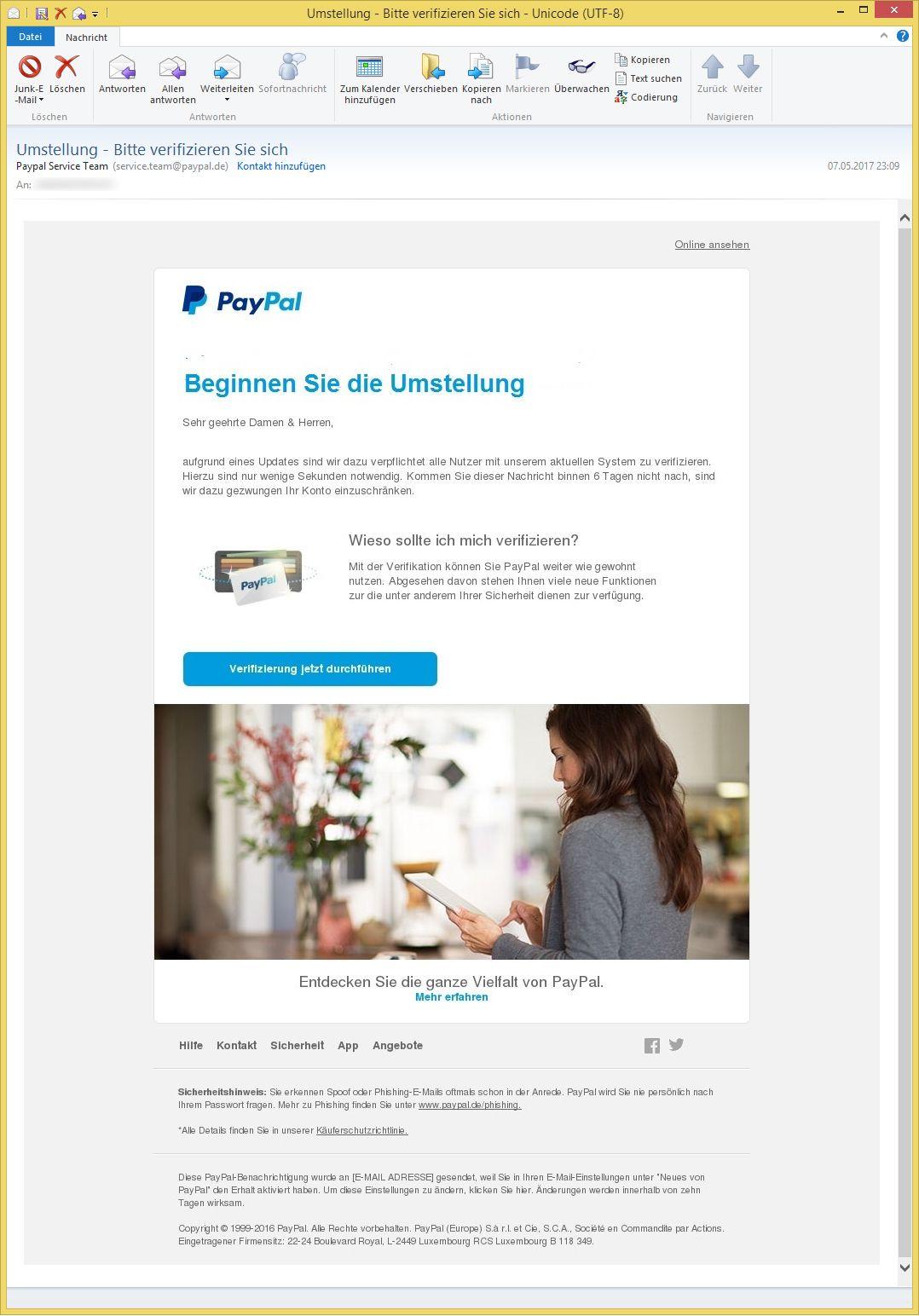 Paypal Bitte Verifizieren Sie Ihr Konto