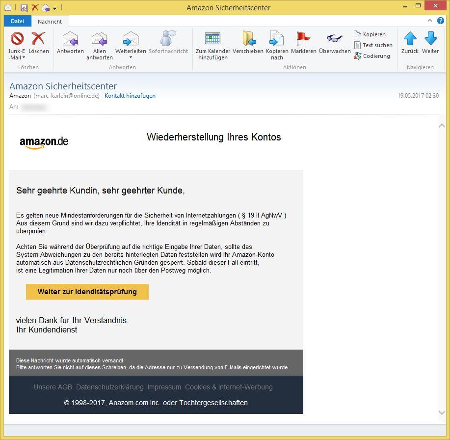 E Mail Amazon Sicherheitscenter