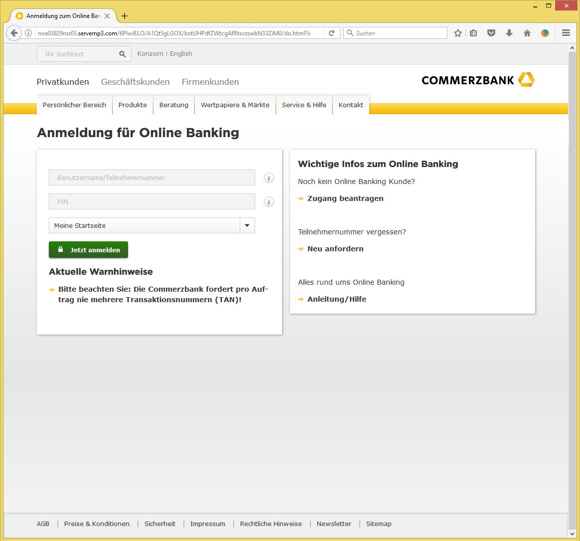 commerzbank online banking startseite