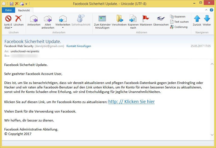 Email Von Facebook
