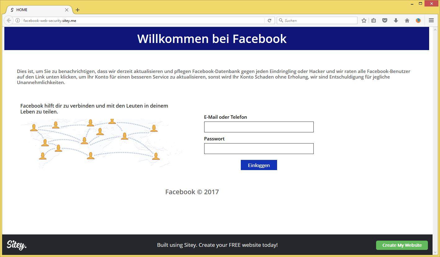 Facebook In Sicherheit