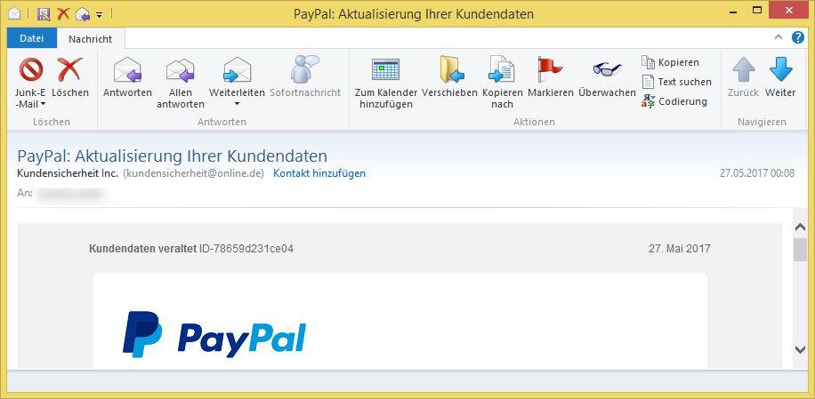 Paypal Kundensicherheit