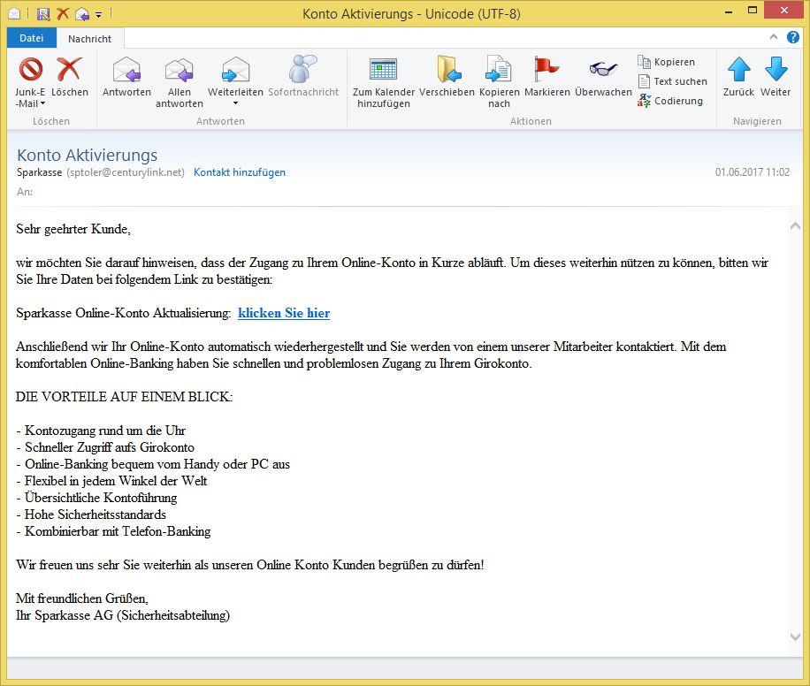 Aktivierungs-Mail