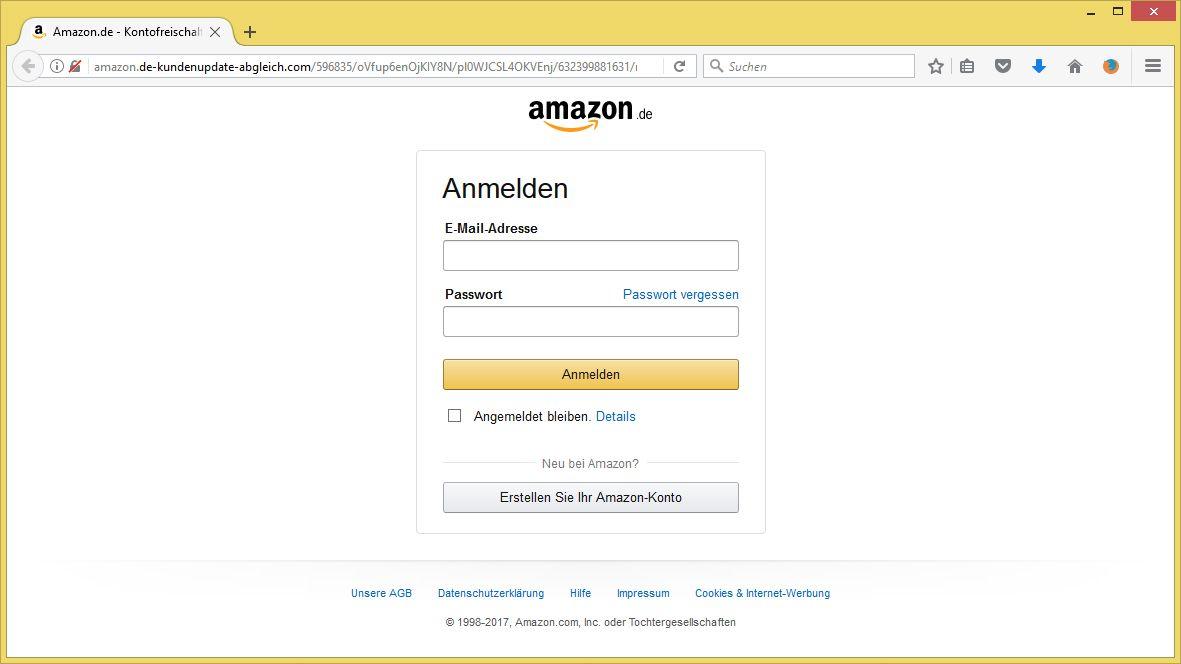 Amazon Validierung