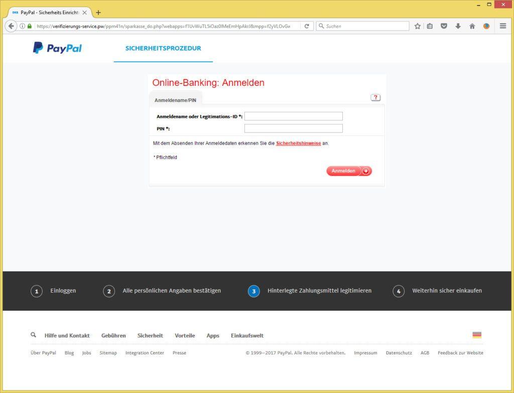 PayPal - Verifizierung Ihres Kundenkontos von PayPal