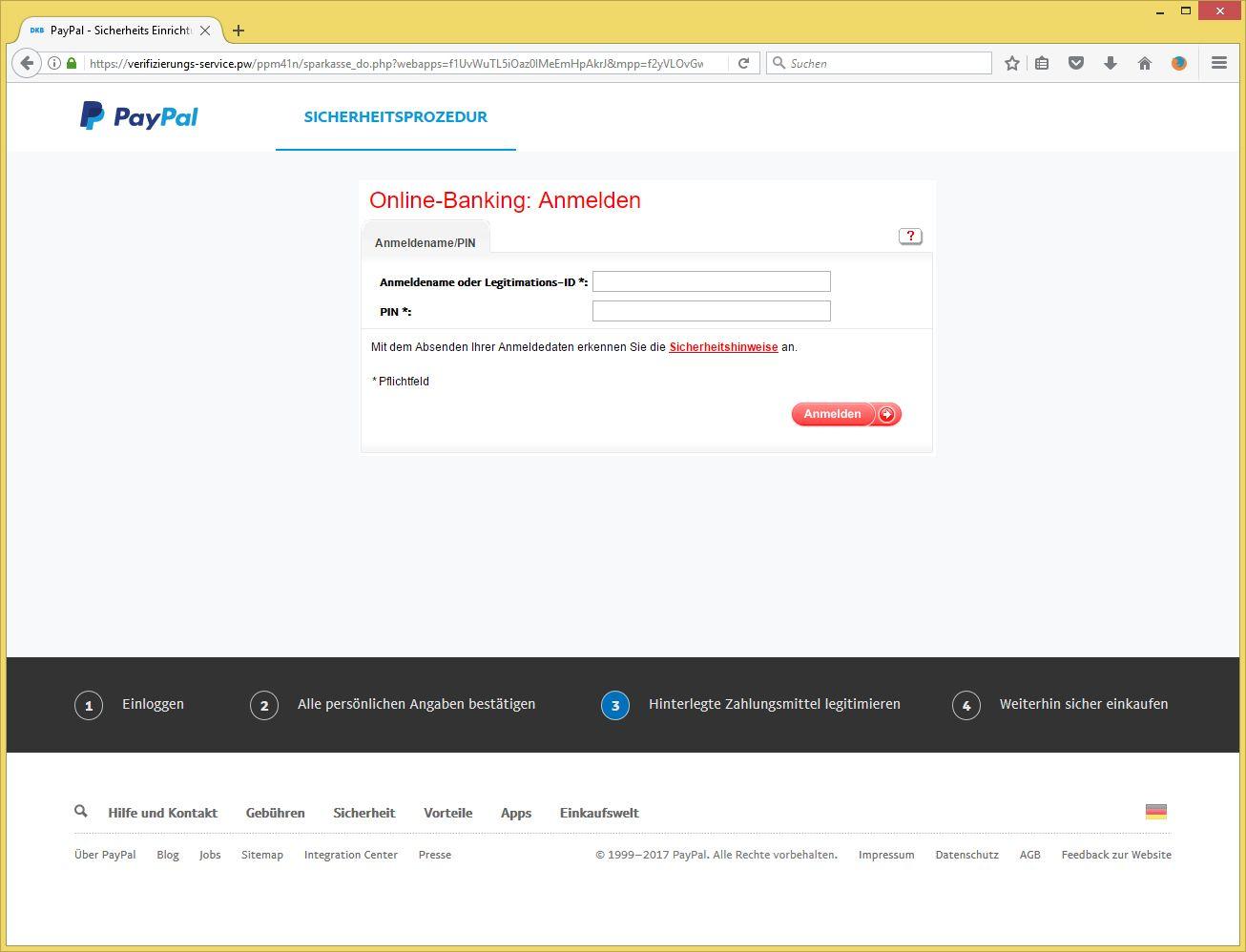 Paypal Verifizierung Email