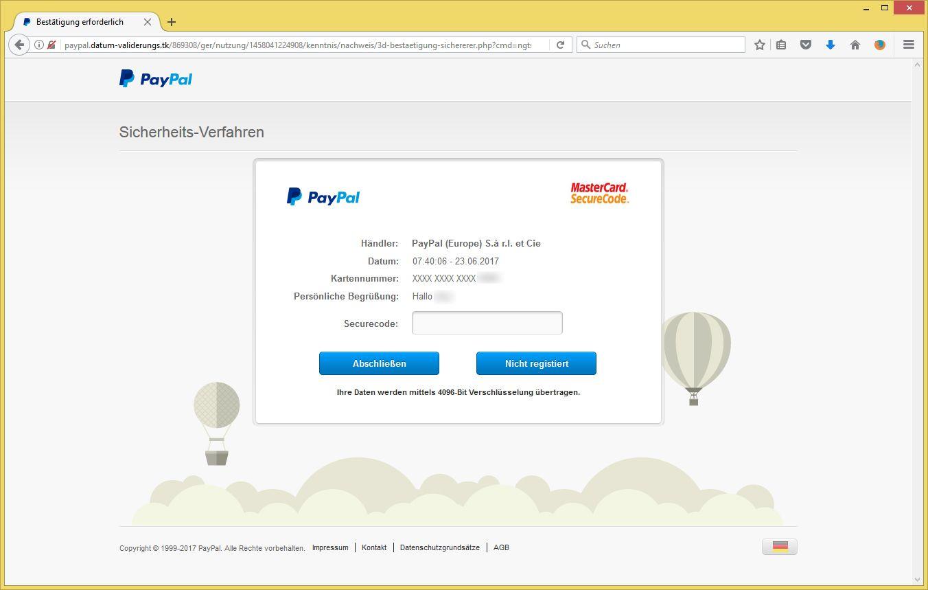 Paypal Suchen
