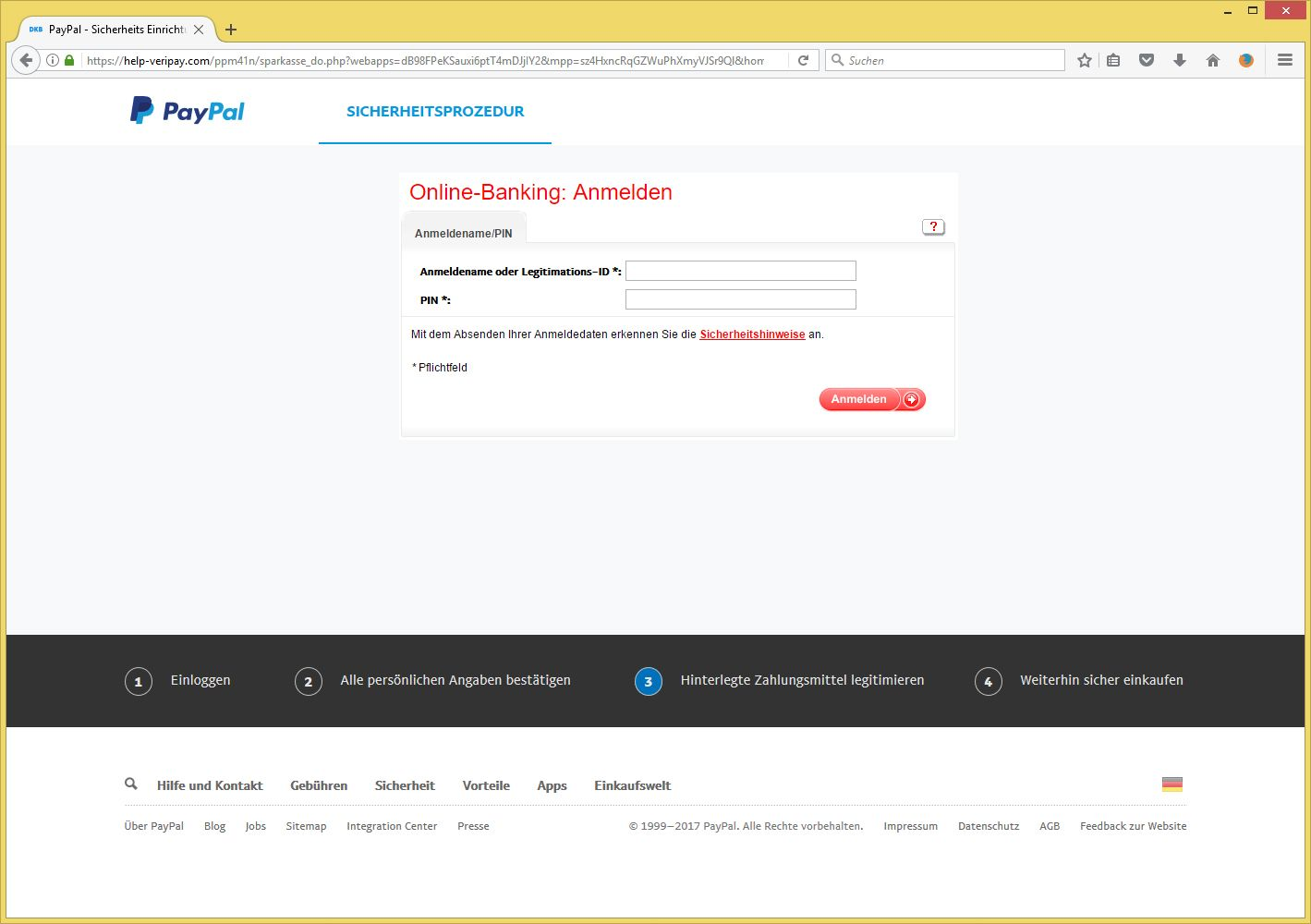 verifizierung paypal email