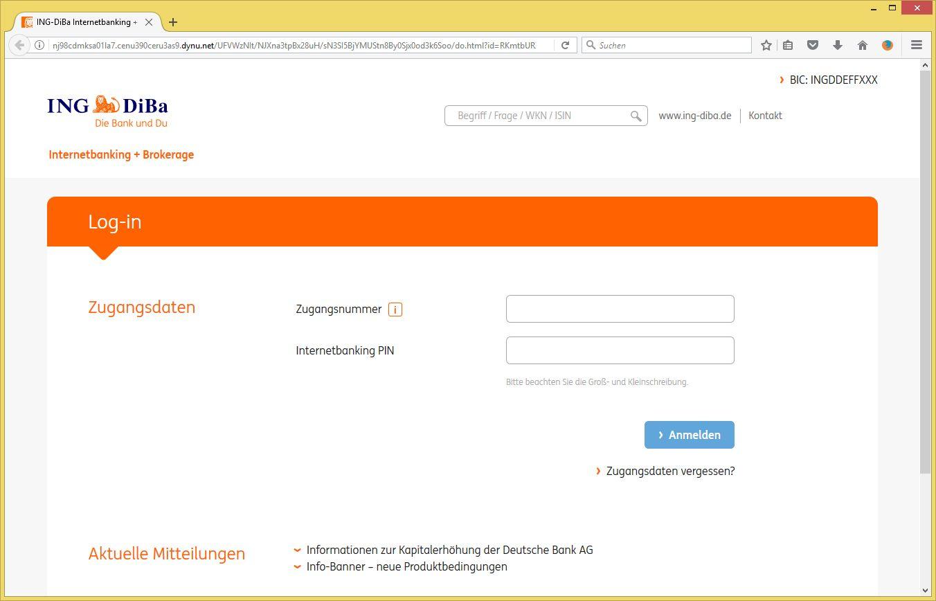 Zu Ihrer Sicherheit Referenznummer ywfvs20rbc von ING DiBa ...