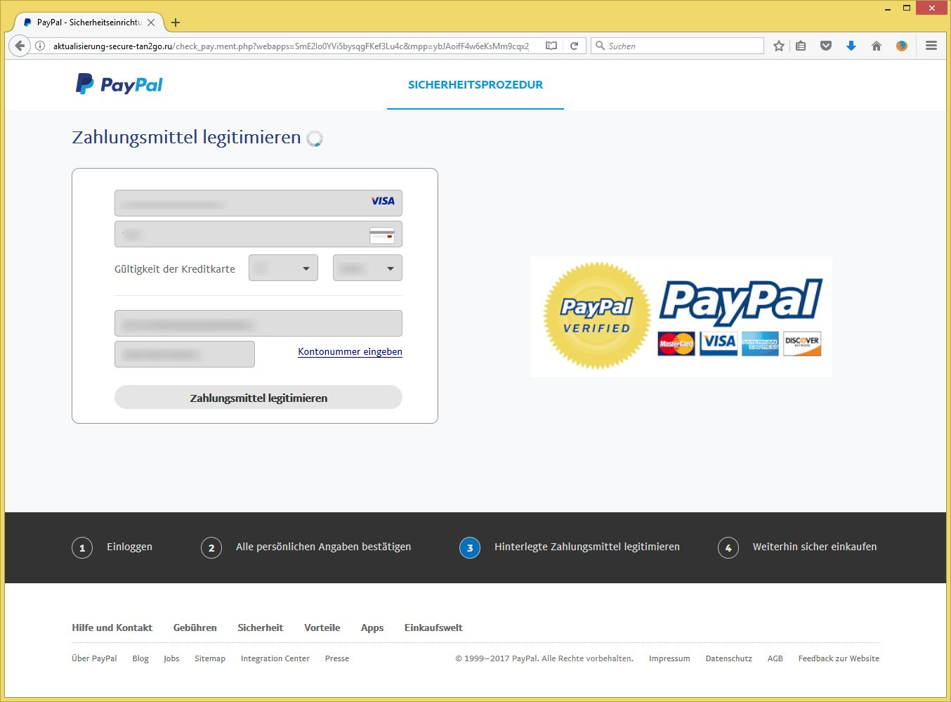 paypal phishing weiterhin unterwegs aktualisierung ihres paypal kontos von paypal alles. Black Bedroom Furniture Sets. Home Design Ideas