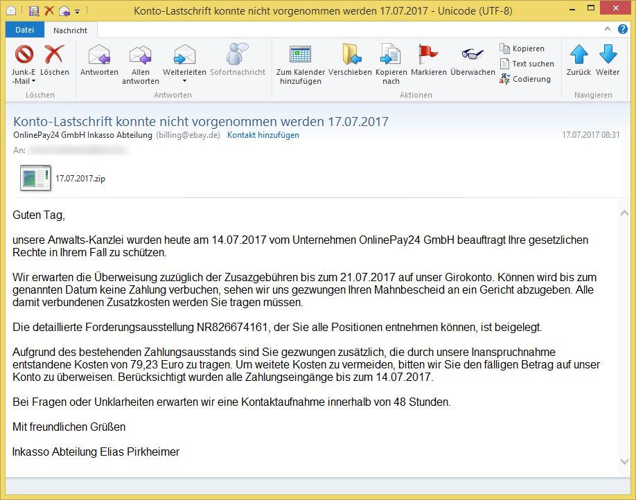 Abrechnung Online Pay Gmbh : konto lastschrift konnte nicht vorgenommen werden ~ Themetempest.com Abrechnung