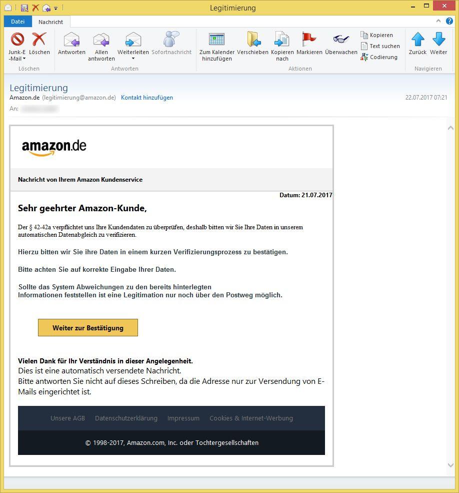 Email Von Amazon