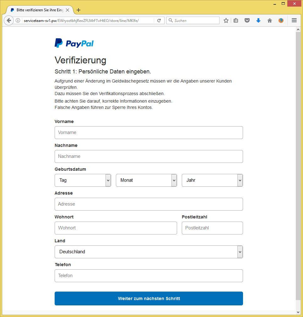 paypal probleme beim einloggen