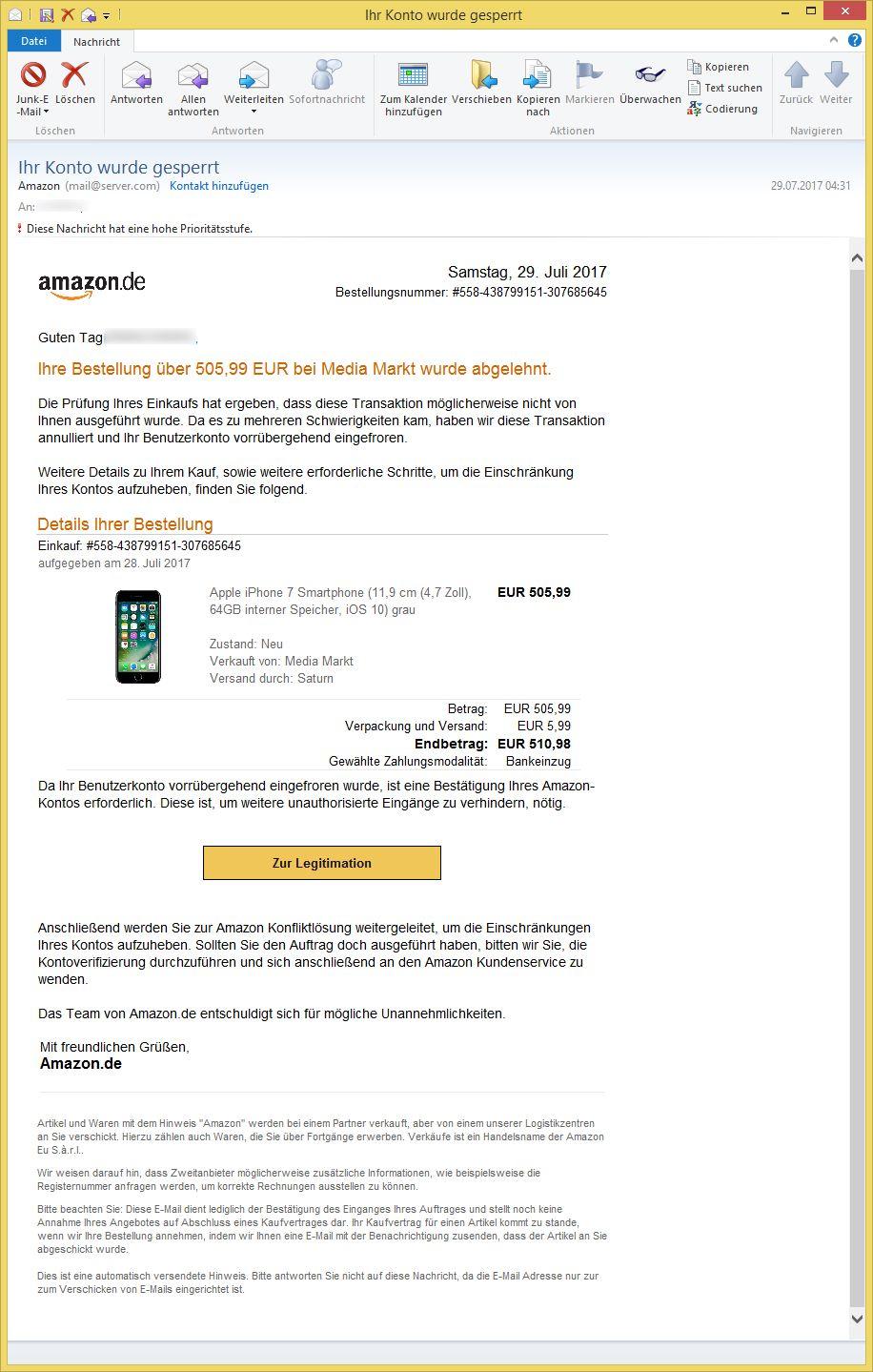E-Mail Von Amazon
