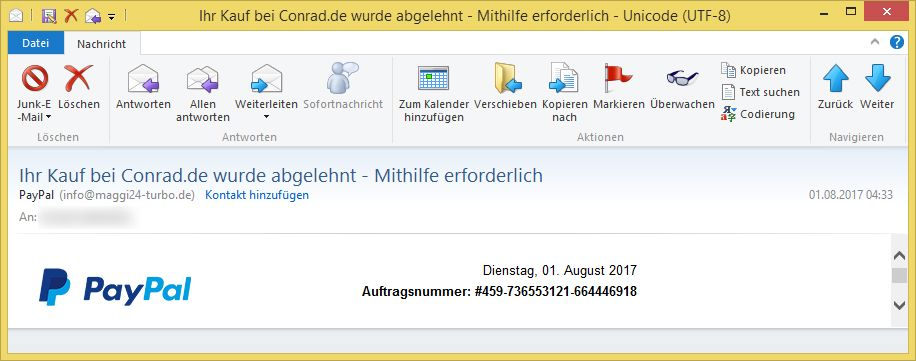 Paypal Email MerkwГјrdige Transaktion