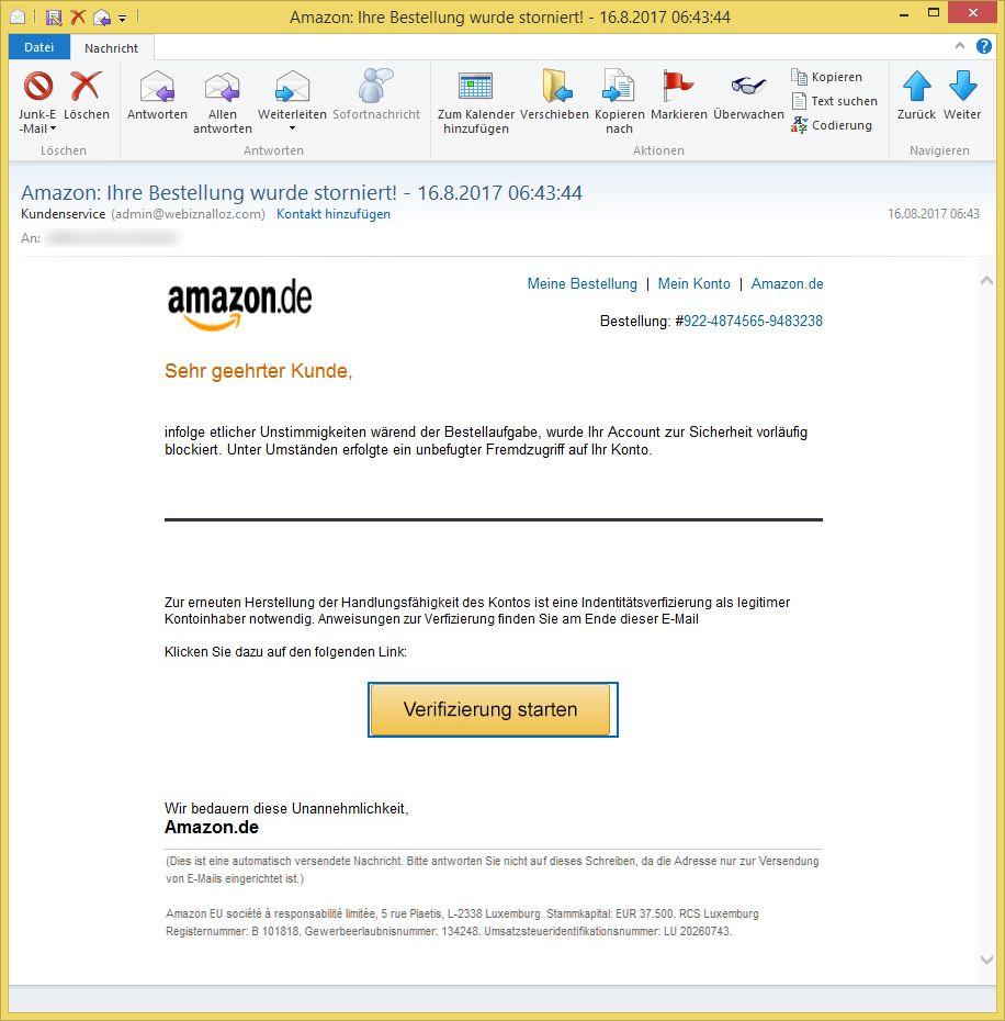 Amazon Kundenservice Email