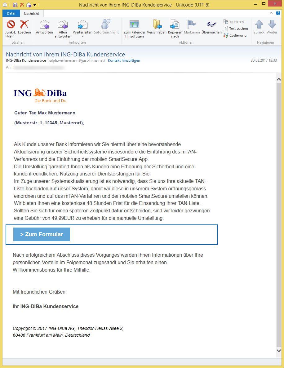 Ing Diba Kundenservice