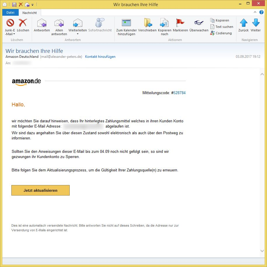 Amazon Email Deutschland