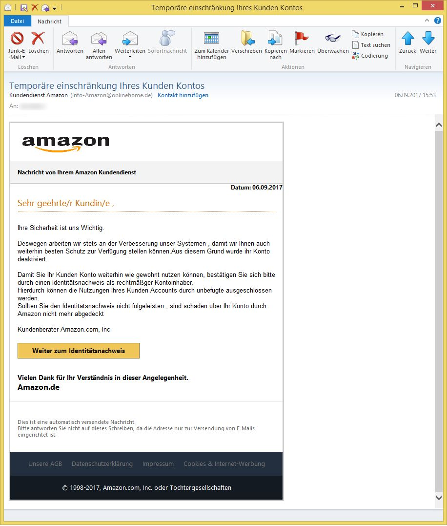Kundendienst Amazon