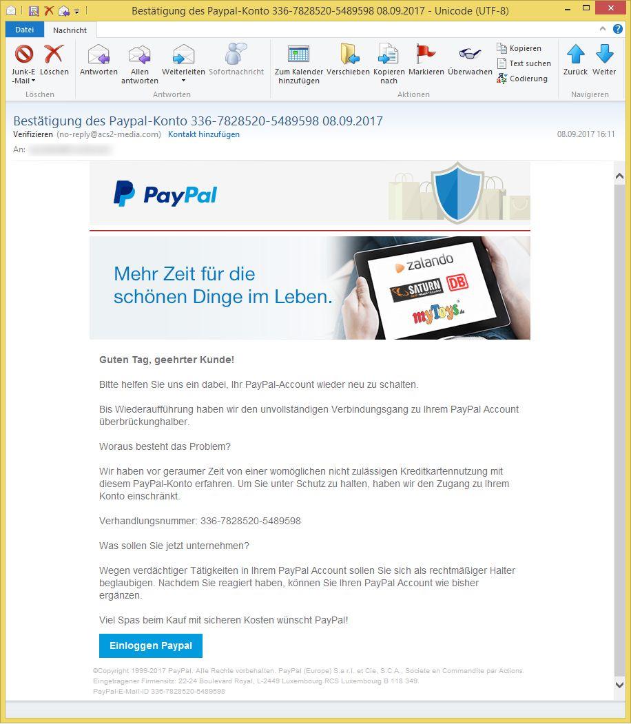 Paypal Account Verifizieren Email