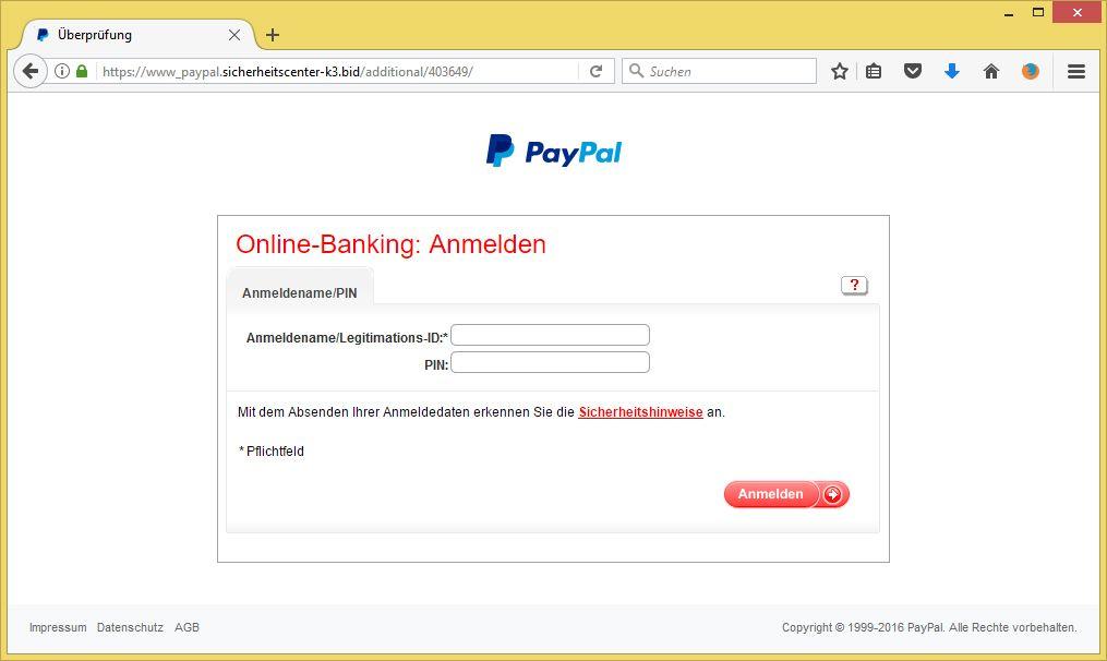 Paypal Entsperren